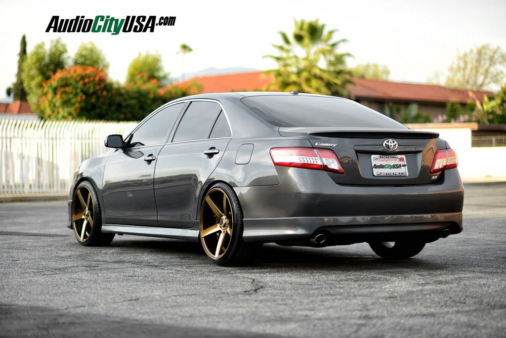 2011 Toyota Camry lowered on STR 607 wheels > Autospice