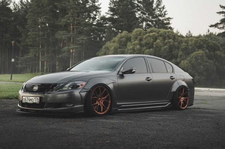 grey Lexus SC300 Stanced on custom wheels