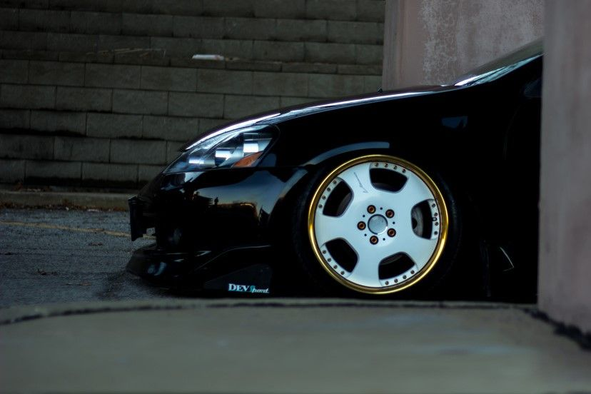 stanced Acura RSX on SSR Vienna Dish III's