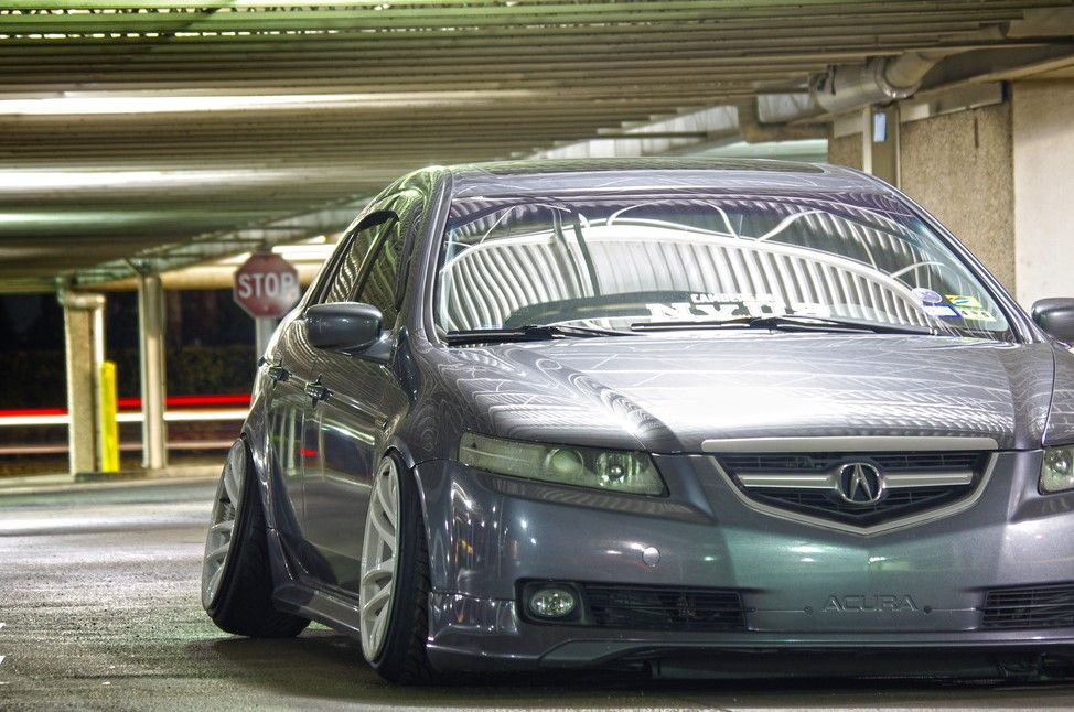 Acura TL Slammed On Work CR Kiwami Autospice - 2005 acura tl accessories