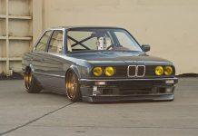 BMW E30 slammed