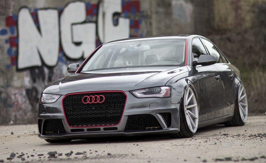 Slammed Audi A On Inch VOSSEN CVT Wheels Autospice - Audi a4 wheels
